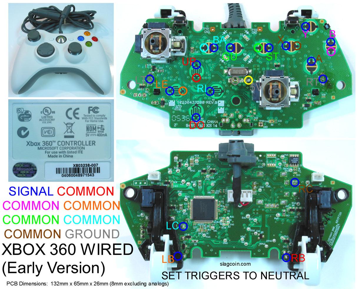Xbox Controller Wiring Diagram - Wiring Diagram Database on